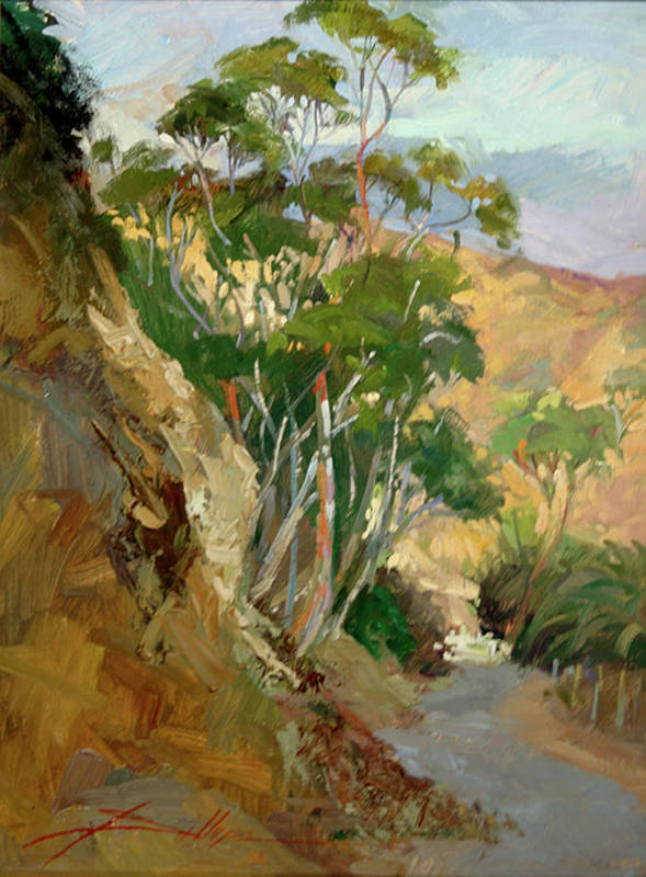 Plein Air Painting Poster featuring the painting Road to Descanso Catalina by Betty Jean Billups