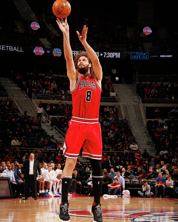 Nba Pro Basketball Poster featuring the photograph Robin Lopez by Brian Sevald