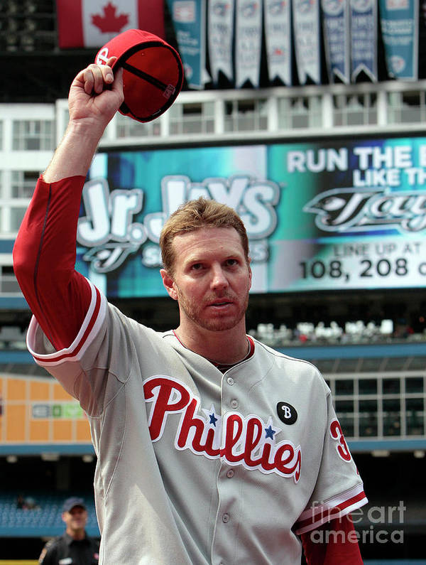 People Poster featuring the photograph Roy Halladay by Abelimages