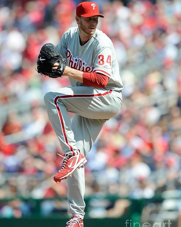 Baseball Pitcher Poster featuring the photograph Roy Halladay by G Fiume