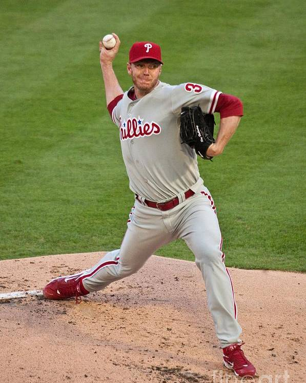 People Poster featuring the photograph Roy Halladay by Ronald C. Modra