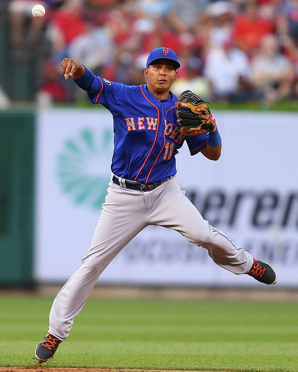 Second Inning Poster featuring the photograph Ruben Tejada by Dilip Vishwanat