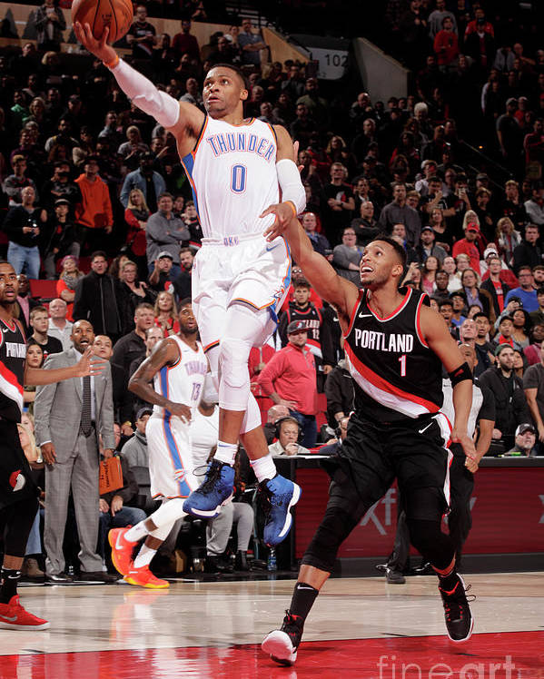 Nba Pro Basketball Poster featuring the photograph Russell Westbrook by Cameron Browne