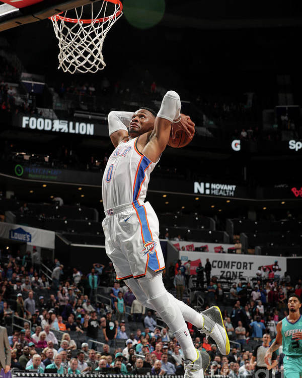 Nba Pro Basketball Poster featuring the photograph Russell Westbrook by Kent Smith