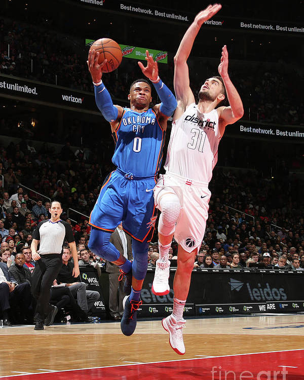 Nba Pro Basketball Poster featuring the photograph Russell Westbrook by Ned Dishman