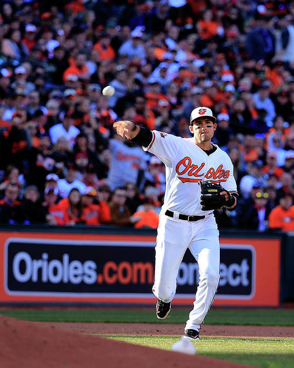 American League Baseball Poster featuring the photograph Ryan Flaherty by Rob Carr
