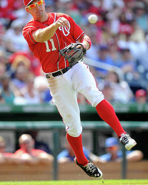 American League Baseball Poster featuring the photograph Ryan Zimmerman by Greg Fiume