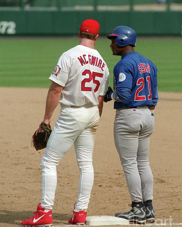 St. Louis Cardinals Poster featuring the photograph Sammy Sosa and Mark Mcgwire by Icon Sports Wire