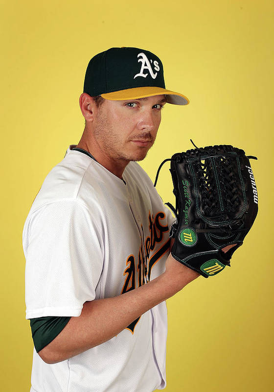 Media Day Poster featuring the photograph Scott Kazmir by Christian Petersen