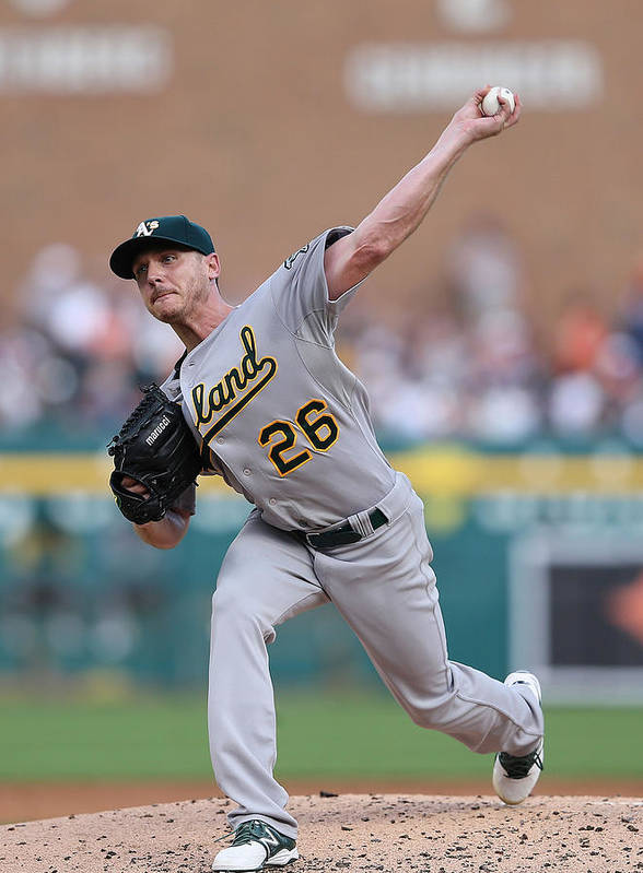 Second Inning Poster featuring the photograph Scott Kazmir by Leon Halip