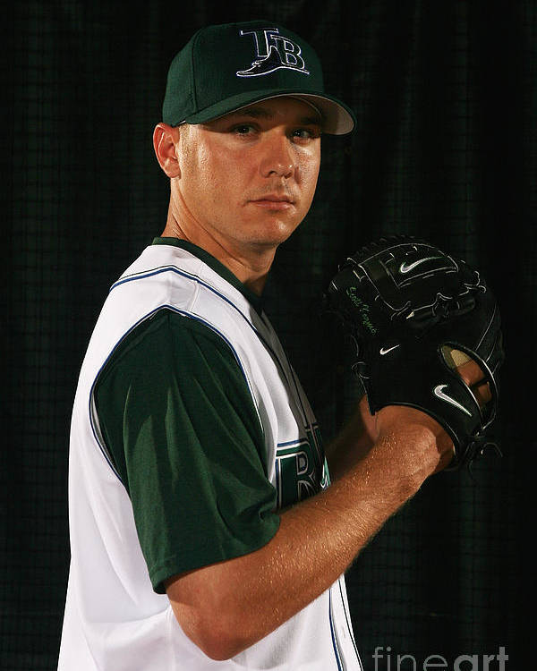 Media Day Poster featuring the photograph Scott Kazmir by Nick Laham