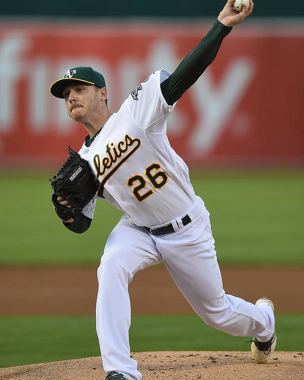 American League Baseball Poster featuring the photograph Scott Kazmir by Thearon W. Henderson