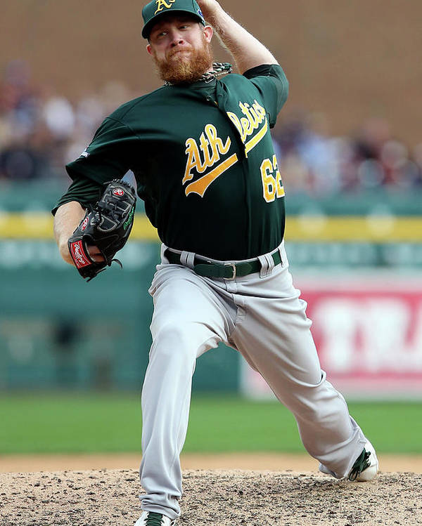 American League Baseball Poster featuring the photograph Sean Doolittle by Leon Halip