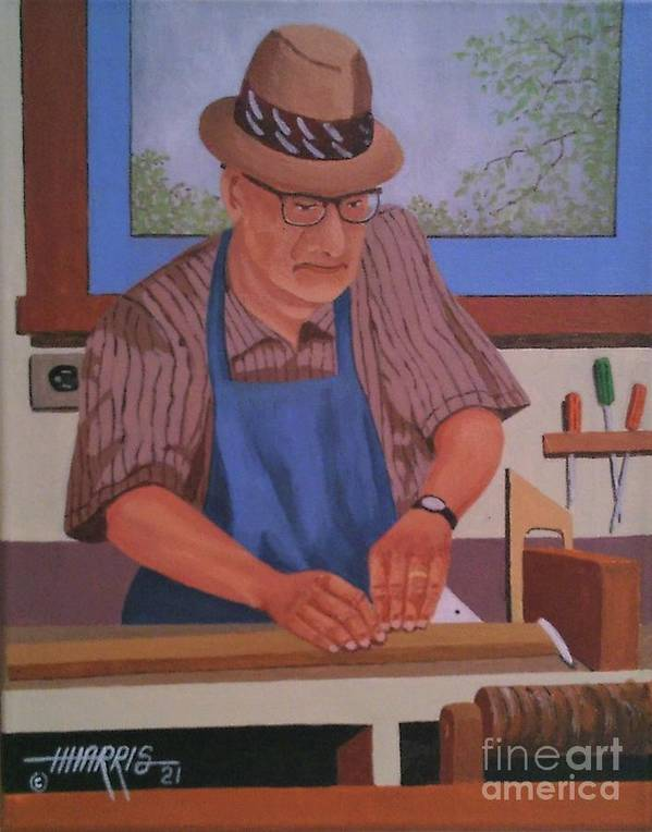 Craftsman Poster featuring the painting Seasoned Craftsman by Hugh Harris