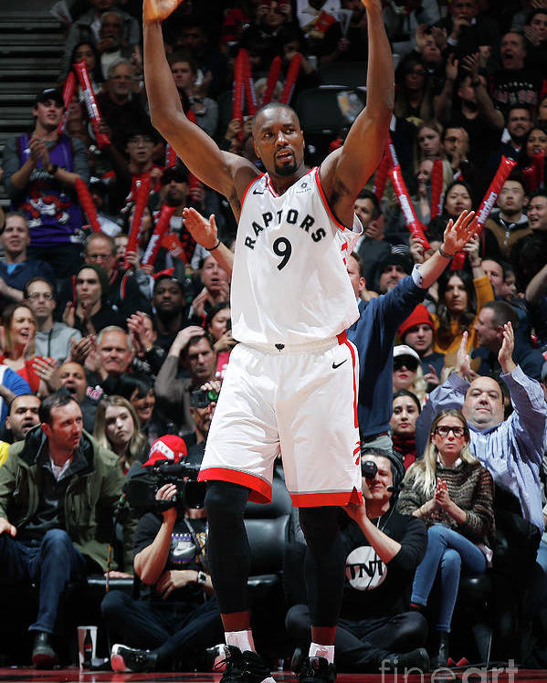 Nba Pro Basketball Poster featuring the photograph Serge Ibaka by Mark Blinch