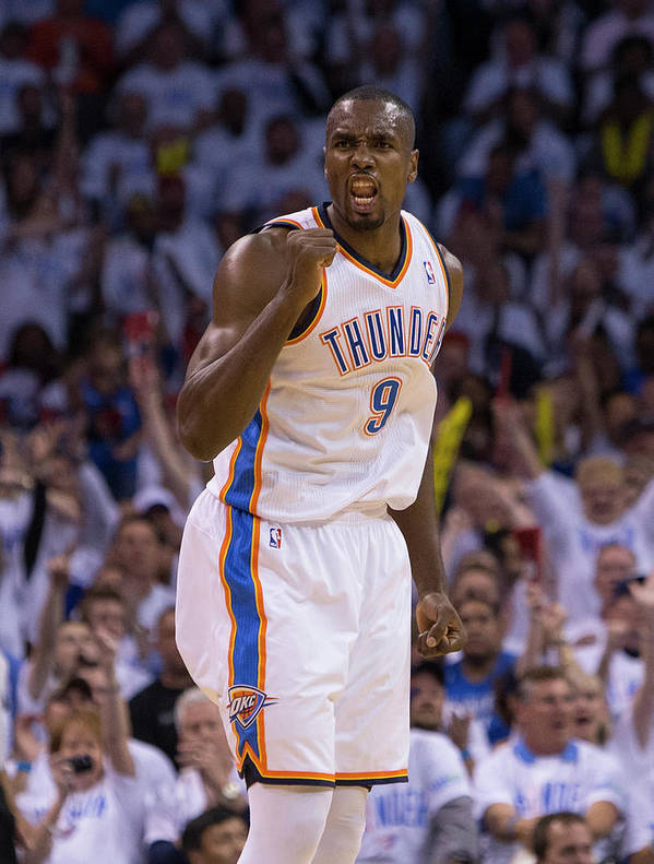 Playoffs Poster featuring the photograph Serge Ibaka by Richard Rowe
