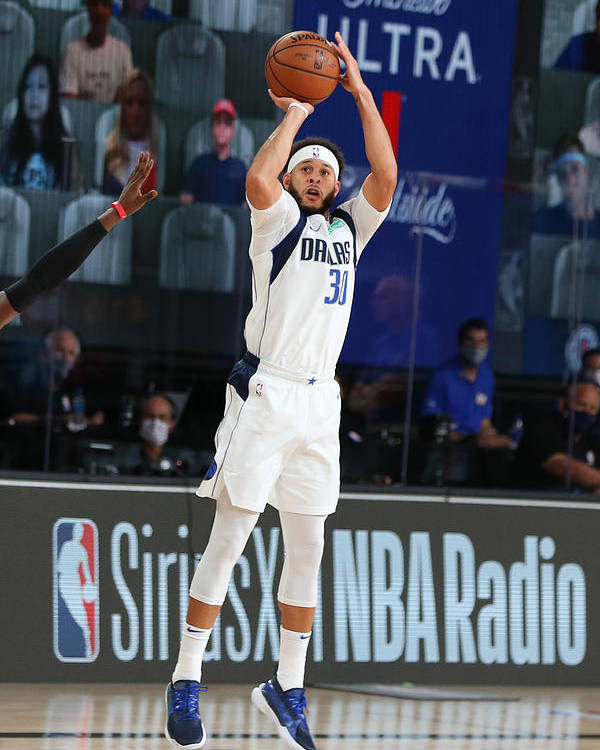 Playoffs Poster featuring the photograph Seth Curry by David Sherman
