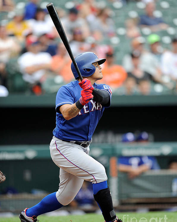 People Poster featuring the photograph Shin-soo Choo by Greg Fiume