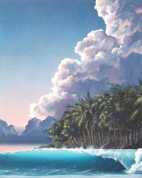 Surf Poster featuring the painting Southern Pacific Dreams by Philip Fleischer