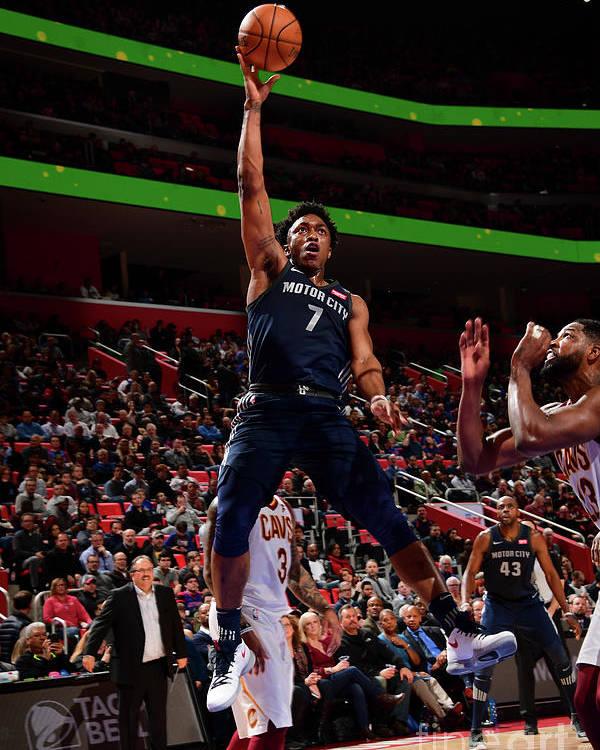 Nba Pro Basketball Poster featuring the photograph Stanley Johnson by Chris Schwegler
