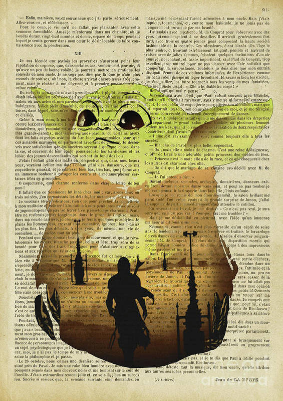 Star Wars Poster featuring the digital art Star Wars Yoda Baby Dictionary    by Trindira A