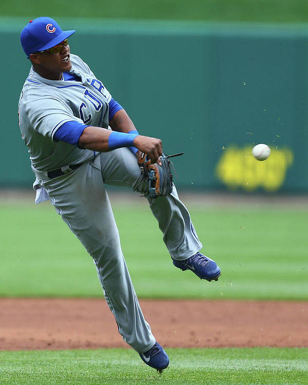 Second Inning Poster featuring the photograph Starlin Castro by Dilip Vishwanat