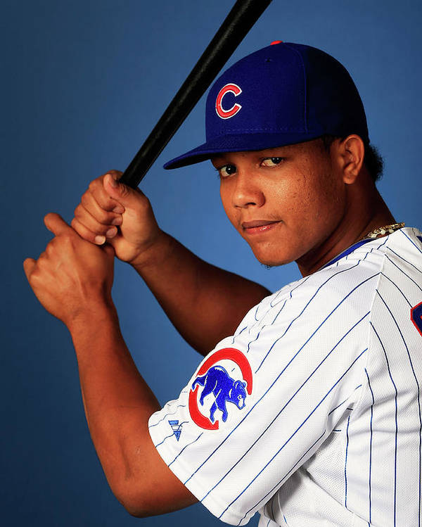 Media Day Poster featuring the photograph Starlin Castro by Jamie Squire