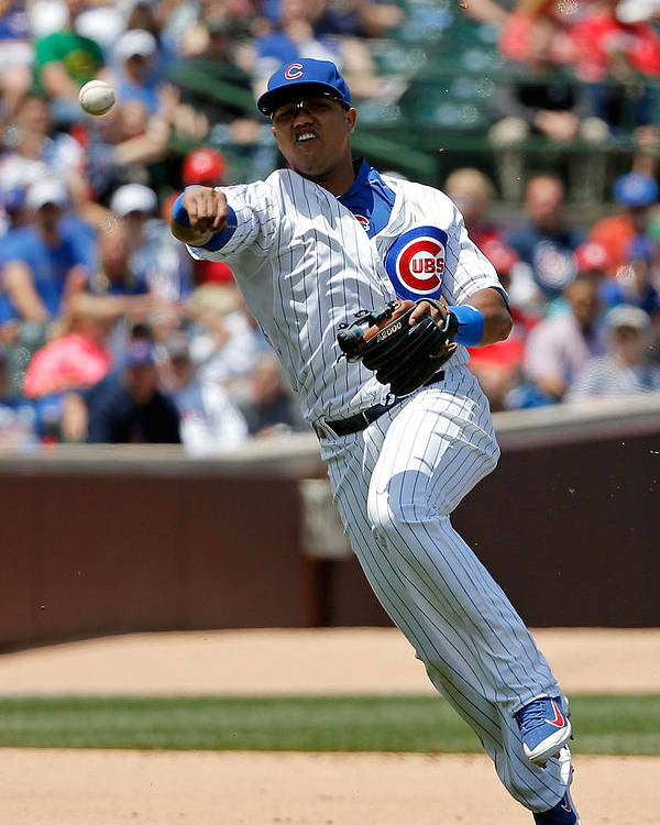 People Poster featuring the photograph Starlin Castro by Jon Durr