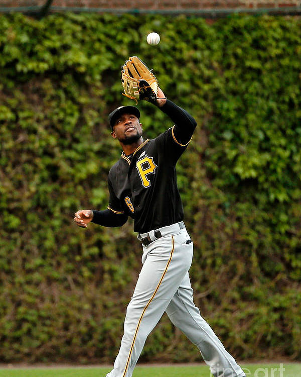 Second Inning Poster featuring the photograph Starling Marte by Jon Durr