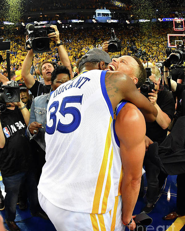 Playoffs Poster featuring the photograph Stephen Curry and Kevin Durant by Jesse D. Garrabrant