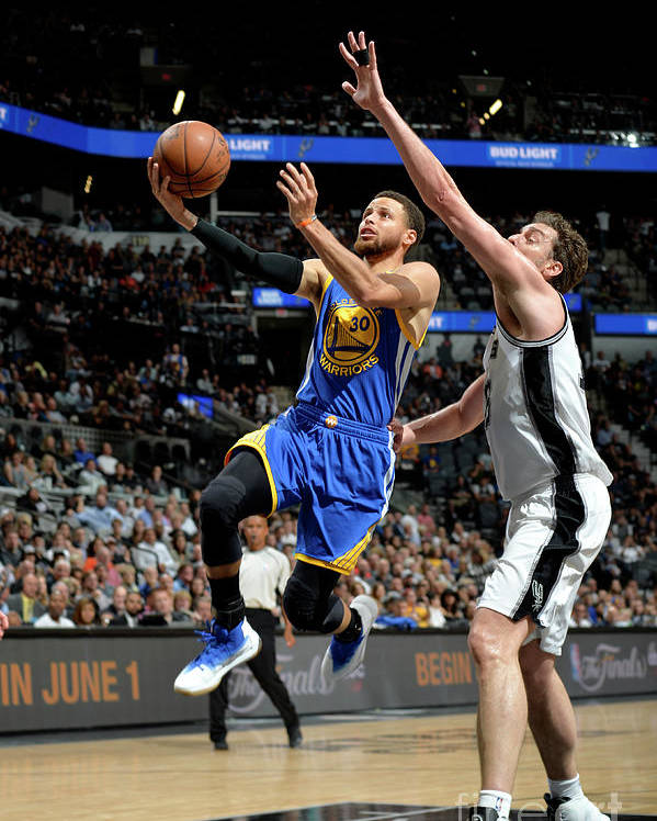 Nba Pro Basketball Poster featuring the photograph Stephen Curry by Mark Sobhani