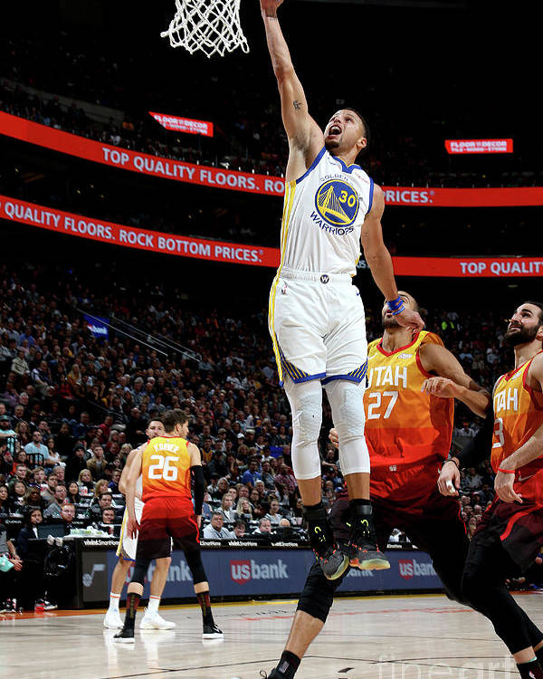 Nba Pro Basketball Poster featuring the photograph Stephen Curry by Melissa Majchrzak