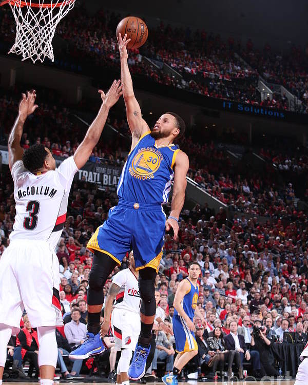 Playoffs Poster featuring the photograph Stephen Curry by Sam Forencich