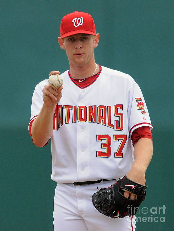 American League Baseball Poster featuring the photograph Stephen Strasburg by Mark Cunningham