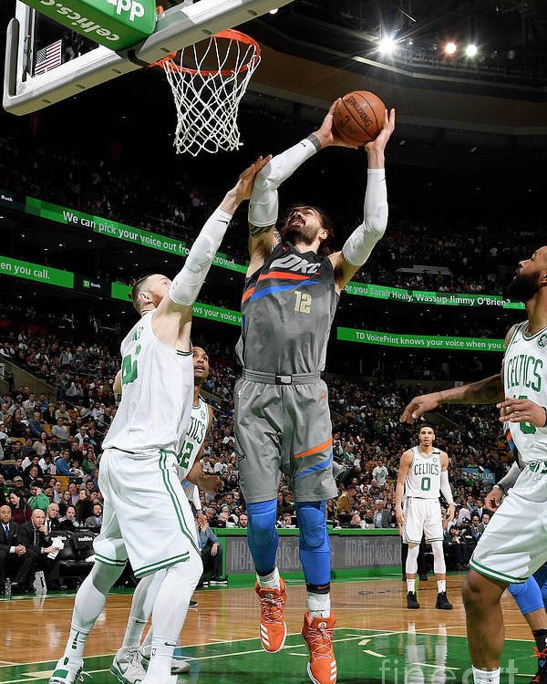 Nba Pro Basketball Poster featuring the photograph Steven Adams by Brian Babineau
