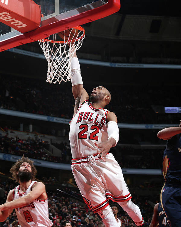 Nba Pro Basketball Poster featuring the photograph Taj Gibson by Gary Dineen