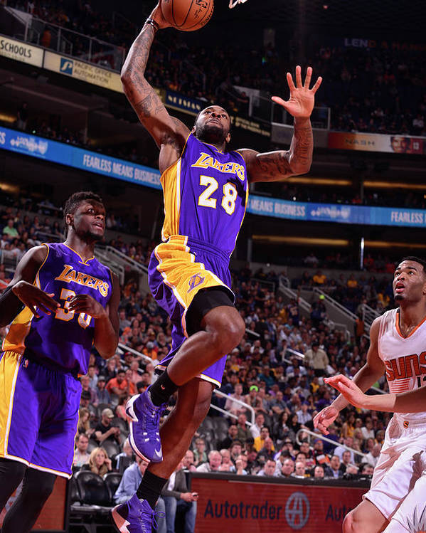 Nba Pro Basketball Poster featuring the photograph Tarik Black by Barry Gossage
