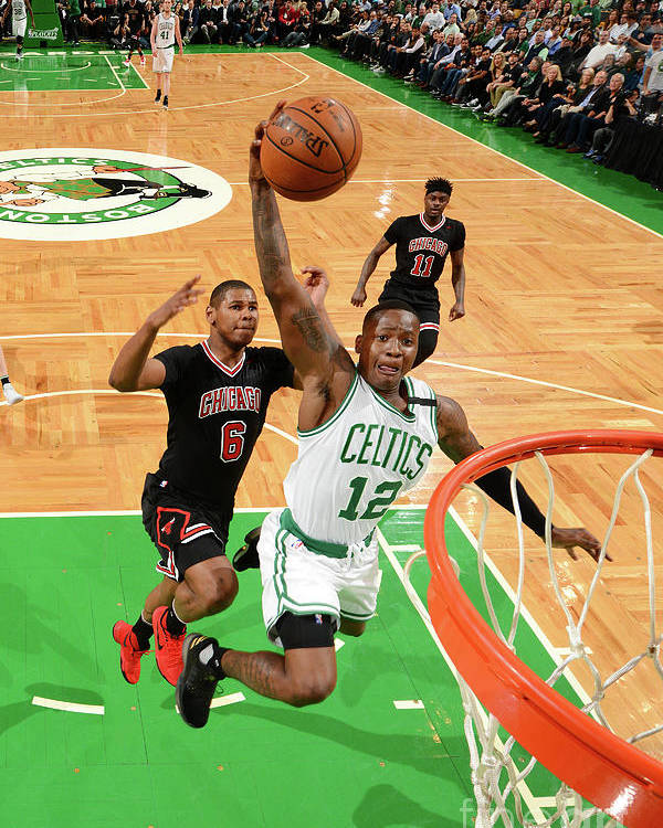 Playoffs Poster featuring the photograph Terry Rozier by Jesse D. Garrabrant