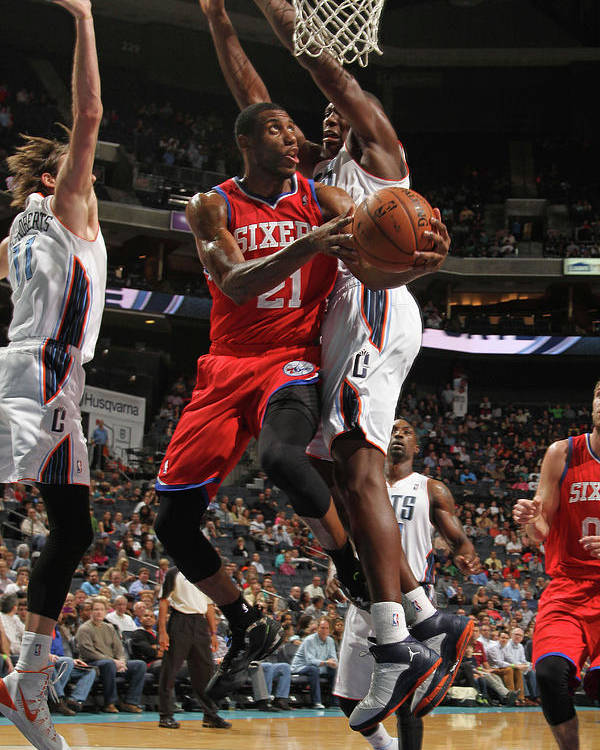 Nba Pro Basketball Poster featuring the photograph Thaddeus Young by Brock Williams-smith