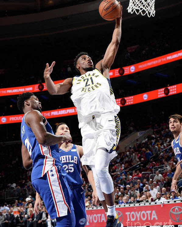 Nba Pro Basketball Poster featuring the photograph Thaddeus Young by David Dow