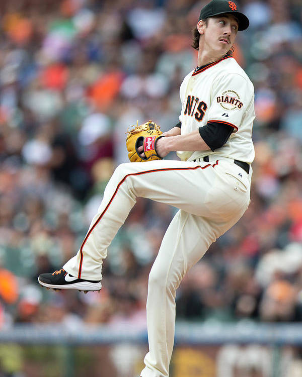 San Francisco Poster featuring the photograph Tim Lincecum by Jason O. Watson