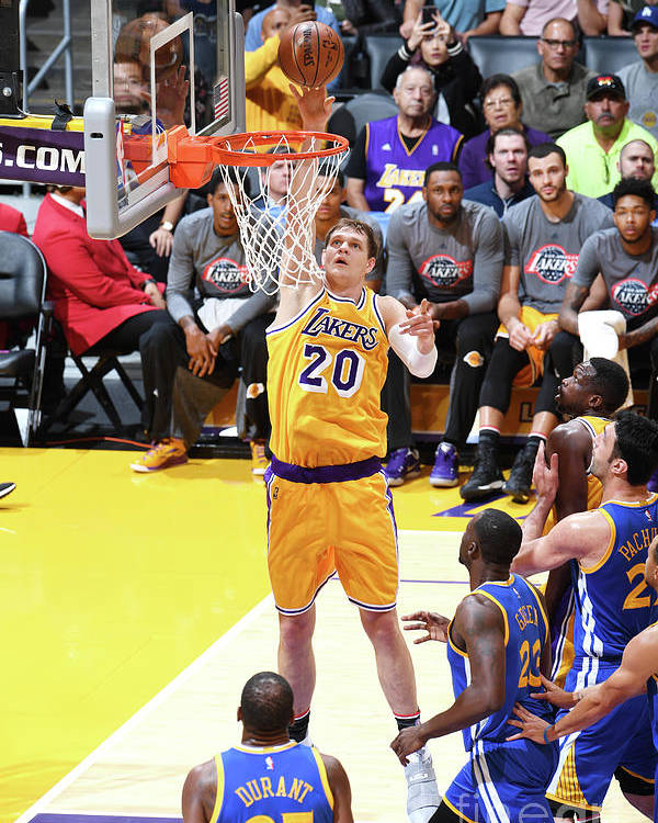 Nba Pro Basketball Poster featuring the photograph Timofey Mozgov by Aaron Poole