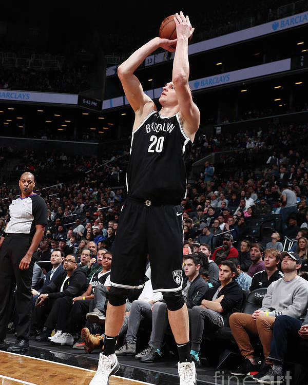 Nba Pro Basketball Poster featuring the photograph Timofey Mozgov by Nathaniel S. Butler