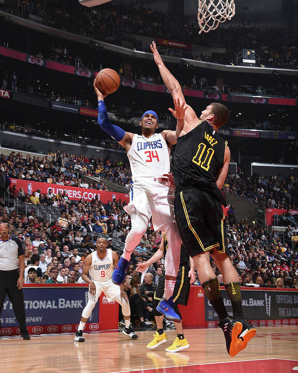 California Poster featuring the photograph Tobias Harris by Adam Pantozzi
