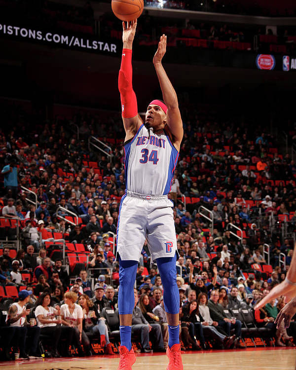 Nba Pro Basketball Poster featuring the photograph Tobias Harris by Brian Sevald