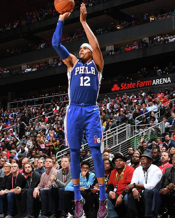 Atlanta Poster featuring the photograph Tobias Harris by Scott Cunningham