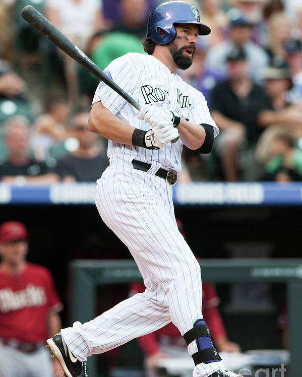 Todd Helton Poster featuring the photograph Todd Helton by Dustin Bradford