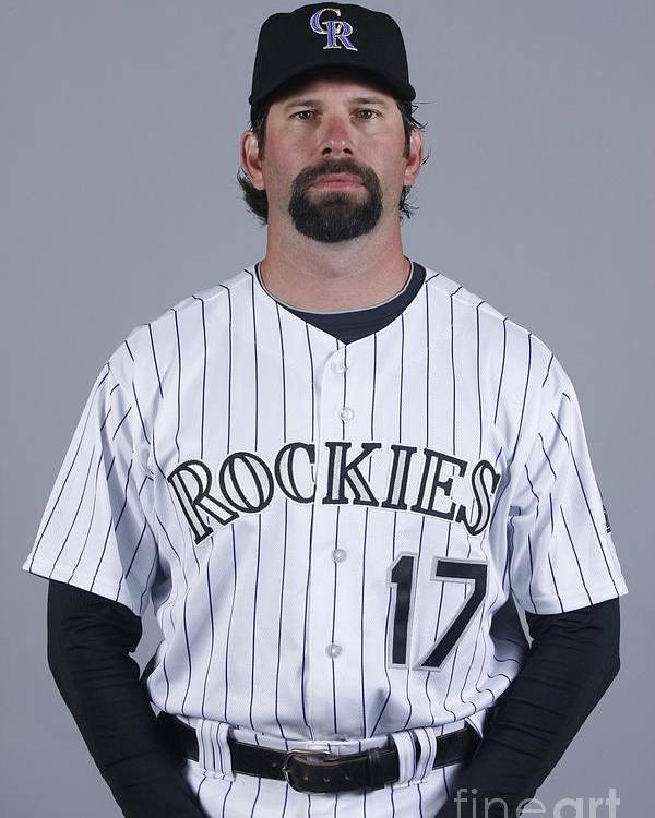 Media Day Poster featuring the photograph Todd Helton by Rick Scuteri