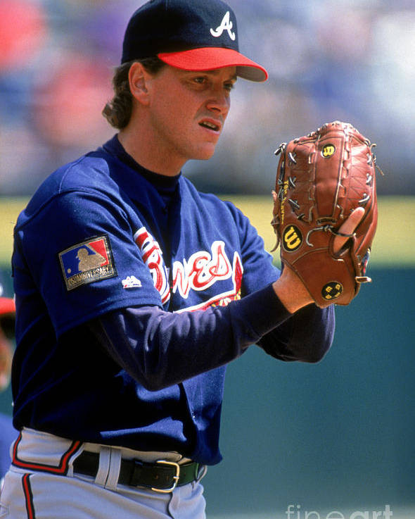 Baseball Pitcher Poster featuring the photograph Tom Glavine by Don Smith