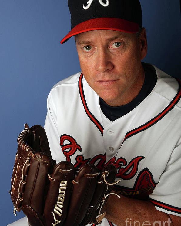 Media Day Poster featuring the photograph Tom Glavine by Elsa